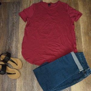 Magenta/Pink Ann Taylor Tee Shirt